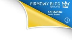 Firmowy blog roku 2008 - blog nowy