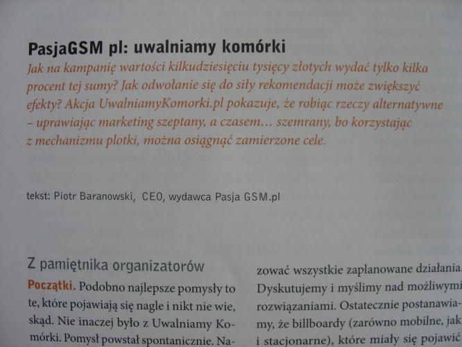 Case study o Akcji UwalniamyKomorki.pl