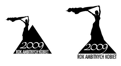 Logo Rok Ambitnych Kobiet_kobieta na szczycie