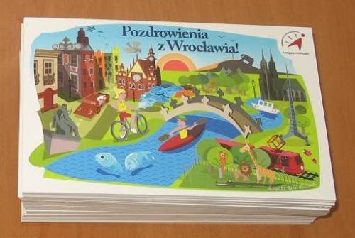Pocztówka Pozdrowienia z Wrocławia - zdjęcie