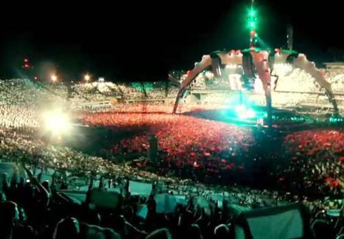 U2 flaga w Chorzowie