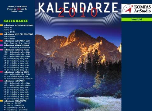 Kalendarze na 2010 rok_strona WWW
