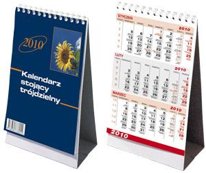 Kalendarz biurkowy trójdzielny