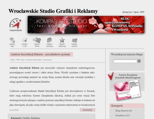 Projekt graficzny naszego bloga